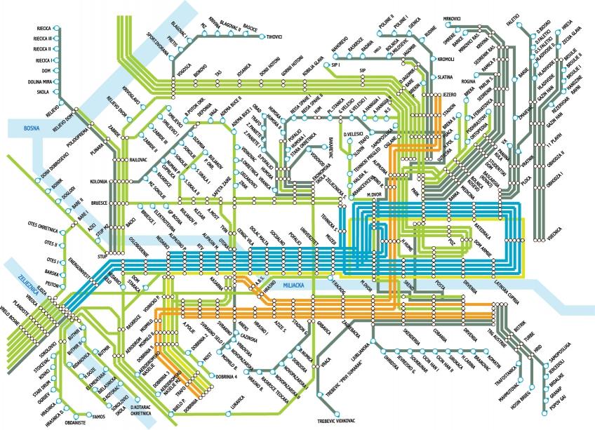 Mapa Javnog Gradskog Prijevoza